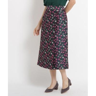 AG by aquagirl(エージー バイ アクアガール) フラワージャカードラップ風スカート