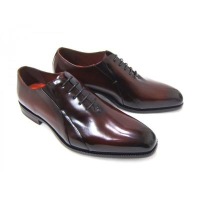 YUKIKO HANAI/ユキコ ハナイ ビジネスYH-3306 紳士靴 ダークブラウン 内羽根 サイドパターン プレーントゥ ビジネス パーティ 送料無料