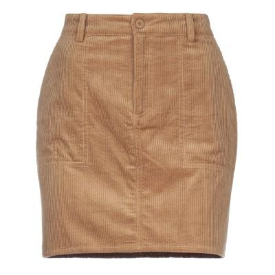 SAMSØE Φ SAMSØE ミニスカート キャメル L コットン 68% / レーヨン 32% ミニスカート