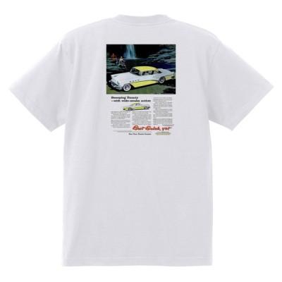 アドバタイジング ビュイック 275 白 Tシャツ 黒地へ変更可能 1956 スーパー リビエラ センチュリー ロードマスター オールディーズ