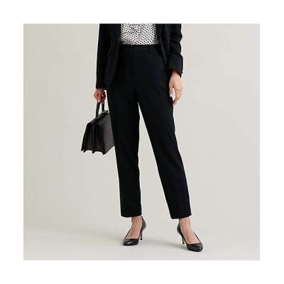 <TRANSWORK(Women)/トランスワーク>【セットアップ対応】【美Slim Pants】【消臭性】【ウォッシャブル】ツイルジャカードパンツ(U1R03414__) クロ【三越伊勢丹/公式】