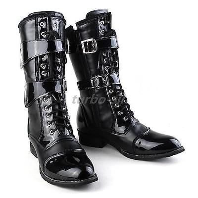 ブーツ メンズ エンジニアブーツ ウエスタンブーツ ミリタリーブーツ サイドファスナー付き 紳士靴 かっこいい ハイカット お兄系