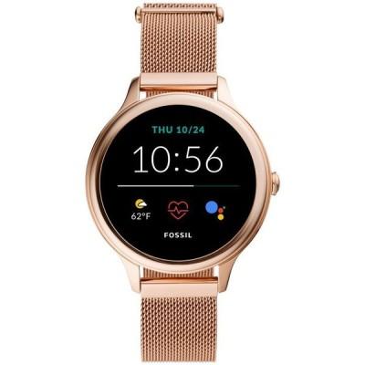 フォッシル レディース 腕時計 アクセサリー Women's Gen 5E Rose Gold-Tone Stainless Steel Mesh Bracelet Touchscreen Smart Watch 42mm