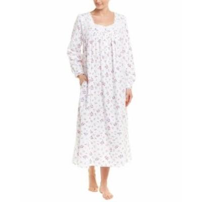Eileen West アイリーンウエスト ファッション ドレス Eileen West Flannel Nightgown S White