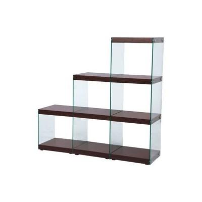 ディスプレイ ラック 飾り棚 展示 ブラウン 茶色 コレクション ガラス ショーケース フィギュア