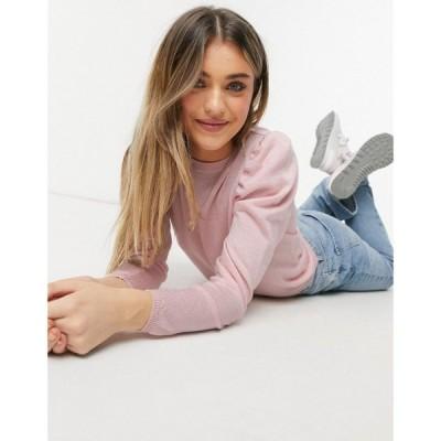 エイソス ASOS DESIGN レディース ニット・セーター トップス Puff Sleeve Jumper In Pink ピンク