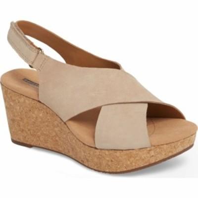 クラークス CLARKS レディース サンダル・ミュール ウェッジソール シューズ・靴 Annadel Eirwyn Wedge Sandal Sand Nubuck