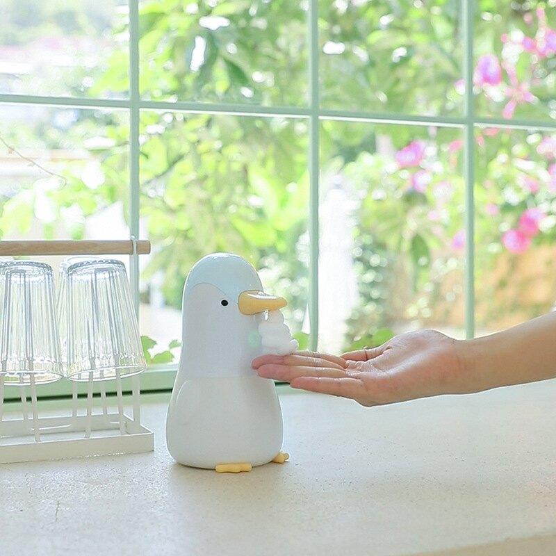 2020新款自動感應皂液器可愛企鵝泡泡洗手機智慧兒童泡沫感應家用