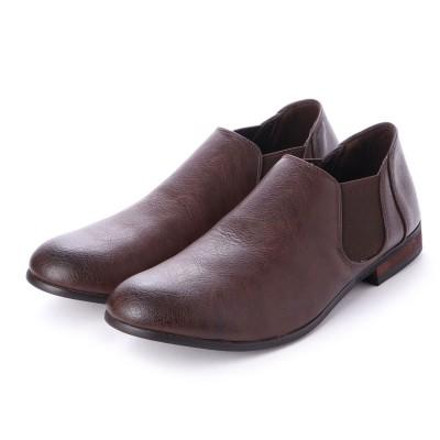 SFW デデス Dedes 軽くて履きやすくて歩きやすい シンプルで合わせやすく履いた時のシルエットがきれいなサイドゴアブーツ/5234 (ダークブラウン)