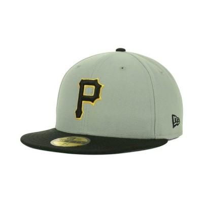 ニューエラ 帽子 アクセサリー メンズ Pittsburgh Pirates MLB Cooperstown 59FIFTY Cap Gray/Black