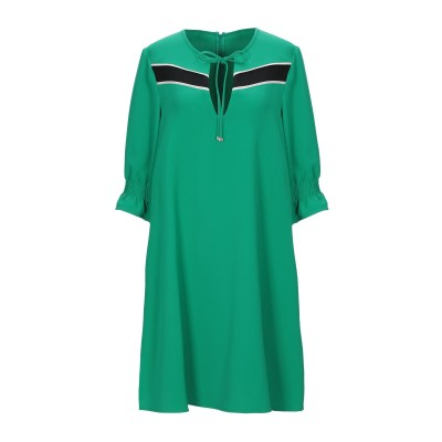ANNARITA N TWENTY 4H ミニワンピース&ドレス グリーン 42 ポリエステル 97% / ポリウレタン 3% ミニワンピース&ドレス