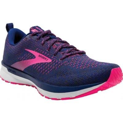 ブルックス Brooks レディース ランニング・ウォーキング シューズ・靴 Revel 4 Running Shoe Blue/Ebony/Pink