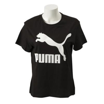 レディース 【PUMA ウェア】 プーマ ウェア W CLASSICS ロゴ SS Tシャツ 595958 01BLACK L ブラック