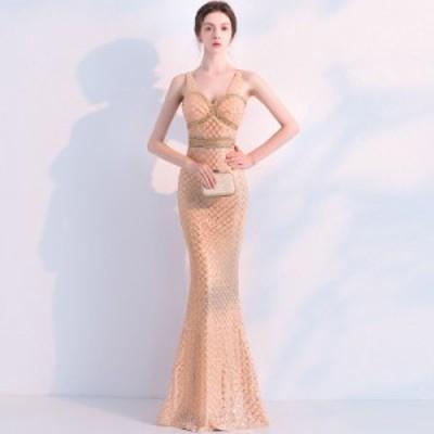 マーメイドライン ベアトップ パーティドレス レディース イブニングドレス 司会ドレス ロングドレス 披露宴 二次会ドレス 結婚式 ドレス