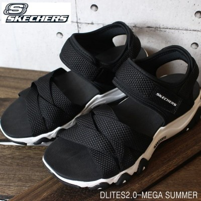 スケッチャーズ レディース サンダルディライト2.0メガサマー SKECHERS DLITES2.0-MEGA SUMMER 32996 BLK 厚底サンダル スポーツサンダル スポサン