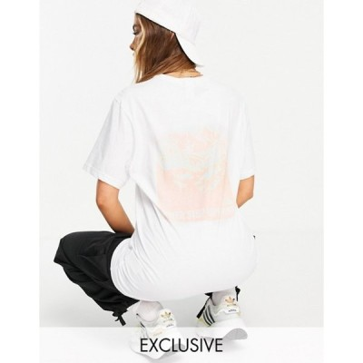 ノースフェイス レディース シャツ トップス The North Face Back Natural Wonders T-shirt in white Exclusive to ASOS