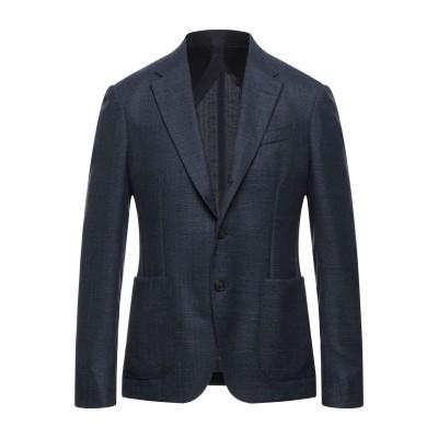ZZEGNA テーラードジャケット ダークブルー 50 ウール 100% テーラードジャケット
