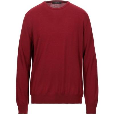 ブイネック VNECK メンズ ニット・セーター トップス sweater Brick red