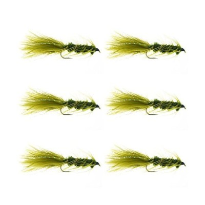 GoFly 管理釣り場、湖定番のウーリーバガー #10 オリーブ 6本セット