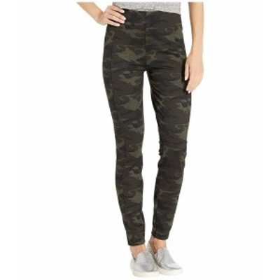 リバプール レディース カジュアルパンツ ボトムス Reese Ankle Leggings in Camo Knit Olive/Brown
