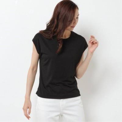 ガーメントウォッシュフレンチスリーブTシャツ ブラック 12 14