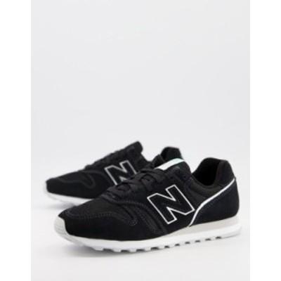 ニューバランス レディース スニーカー シューズ New Balance 373 sneakers in black and gray Black