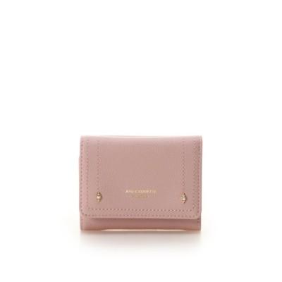 【アンドシュエット】 プチビジュー三つ折り財布 レディース ピンク FREE & chouette
