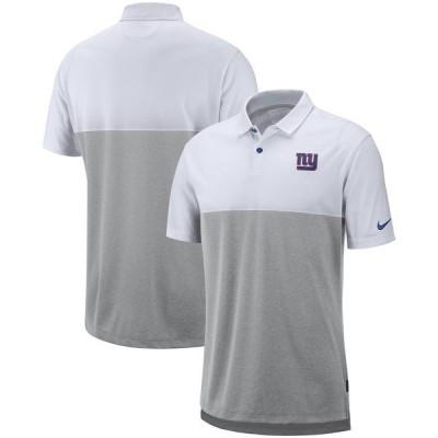 ナイキ メンズ ポロシャツ トップス New York Giants Nike Sideline Early Season Performance Polo