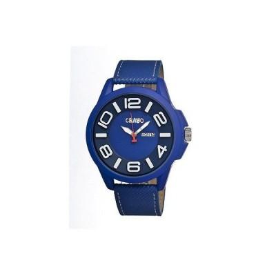 海外セレクション 腕時計 Crayo Horizon ブルー ステンレス スチール ケース メンズ 腕時計 CR0105