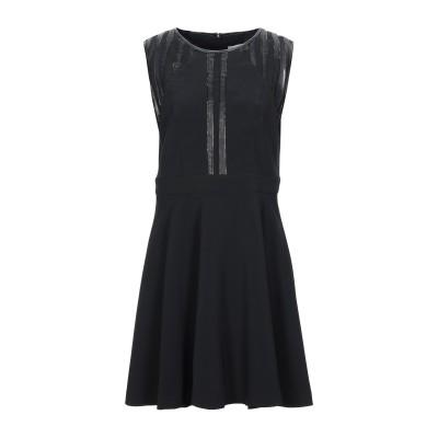 TUWE ITALIA ミニワンピース&ドレス ブラック 48 ポリエステル 94% / ポリウレタン 6% / PES - ポリエーテルサルフォン