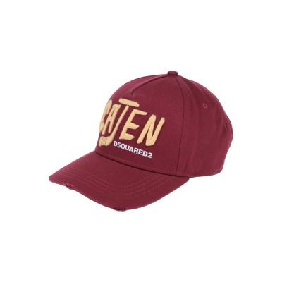 ディースクエアード DSQUARED2 帽子 ボルドー one size コットン 100% 帽子