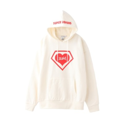 【エックスガール/X-girl】 X-girl × SUPER LOVERS LOGO HOODIE