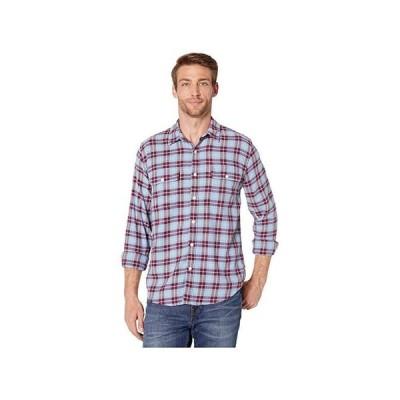 customerAuth Saturday Stretch Lightweight Flannel Shirt メンズ シャツ トップス Blue/Red