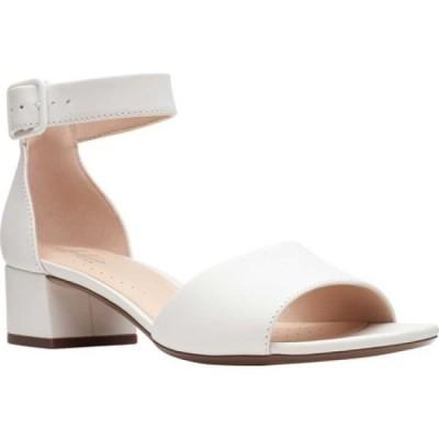 クラークス Clarks レディース サンダル・ミュール アンクルストラップ シューズ・靴 Elisa Dedra Ankle Strap Sandal White Full Grain Leather