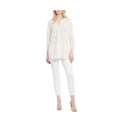 NIC+ZOE ニックアンドゾー レディース 女性用 ファッション ブラウス Petite Make Waves Top - Milk White