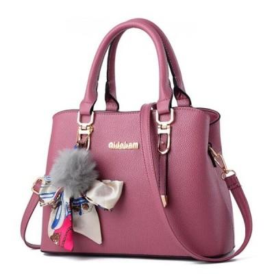 Yogodlns 新エレガントな女性のショルダーバッグミディアムハンドバッグ女性のメッセ Deep Pink 23x13x23cm