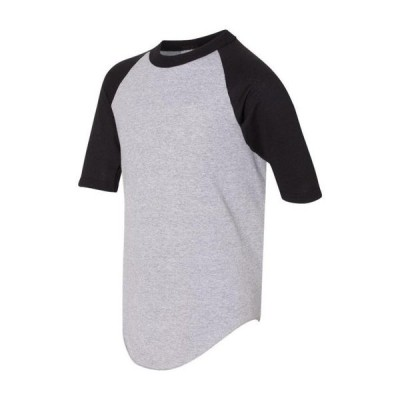 キッズ スポーツリーグ フットボール Augusta Sportswear - Youth Three-Quarter Sleeve Baseball Jersey - 4421 Tシャツ