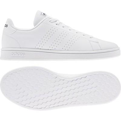 アディダス ADVANCOURT BASE EE7691 メンズ レディース スニーカー:ホワイト×ネイビー adidas 白スニーカー 白靴 通学スニーカー 白スクールシューズ 通学靴