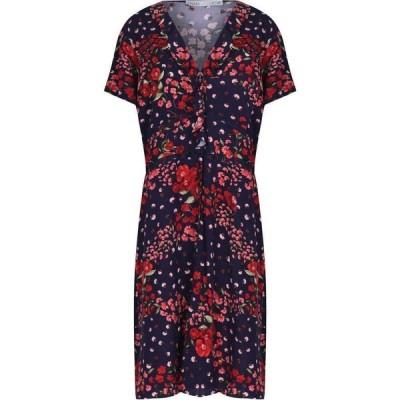 オアシス Oasis レディース ワンピース ワンピース・ドレス CURVE FLORAL PRINT DRESS* Multi Blue