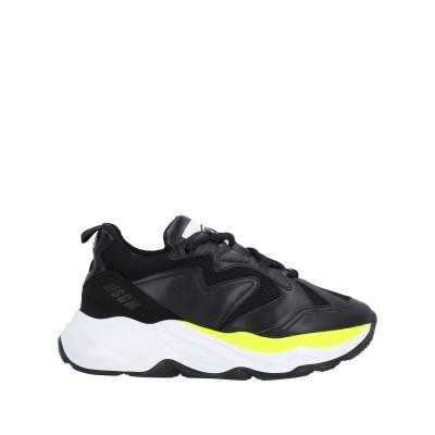 エムエスジーエム MSGM スニーカー&テニスシューズ(ローカット) ブラック 40 革 / 紡績繊維 スニーカー&テニスシューズ(ローカット)