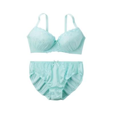 シンプルフラワーブラジャー・ショーツセット(ラージサイズ)(F90/4L) (ブラジャー&ショーツセット)Bras & Panties