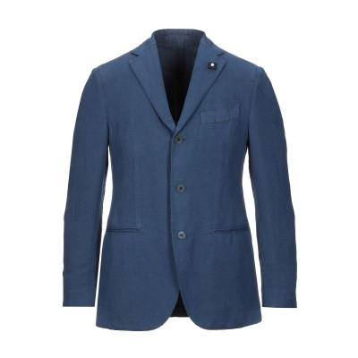 ラルディーニ LARDINI テーラードジャケット ブルー 48 リネン 60% / コットン 40% テーラードジャケット