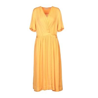 メゾンスコッチ MAISON SCOTCH 7分丈ワンピース・ドレス オレンジ XS ポリエステル 100% 7分丈ワンピース・ドレス