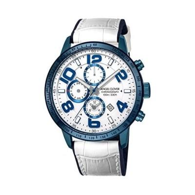 [エンジェルクローバー] 腕時計 LUCE ホワイト文字盤 クロノグラフ LU44BNV-WH メンズ ホワイト (文字盤色-ホワイト)