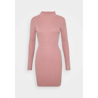 ミスガイデッド レディース ワンピース トップス HIGH NECK MINI DRESS - Jumper dress - pink pink