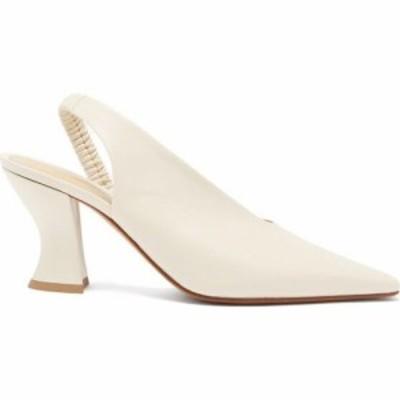 ボッテガ ヴェネタ Bottega Veneta レディース パンプス シューズ・靴 Almond leather slingback pumps Ivory white