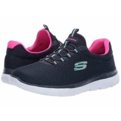SKECHERS スケッチャーズ レディース 女性用 シューズ 靴 スニーカー 運動靴 Summits Navy/Hot Pink【送料無料】