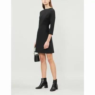 セオリー ワンピース kamillina stretch-wool dress Black
