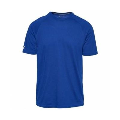 アンダーアーマー メンズ Tシャツ Under Armour Team Athletics Training T-Shirt - Royal/White