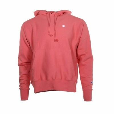 チャンピオン パーカー・スウェットシャツ アウター メンズ Reverse Weave Pullover Hoodie Citrus Pink